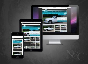 Photo and web link of the 2015 Auto Collectors Garage WordPress template site purchased and implemented by N&C